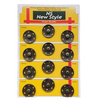 D=25мм пришивные застежки-кнопки для одежды New Style 12шт металлические цвет антик (653-Т-0114)