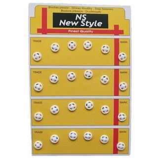 D=8мм пришивные кнопки для одежды New Style 24шт пластиковые цвет белый (653-Т-0052)