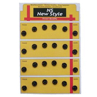 D=8мм пришивные кнопки для одежды New Style 24шт пластиковые цвет черный (653-Т-0051)