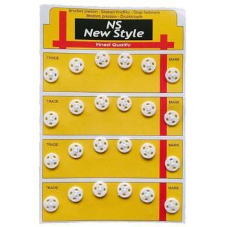 D=10мм пришивные кнопки для одежды New Style 24шт пластиковые цвет белый (653-Т-0053)