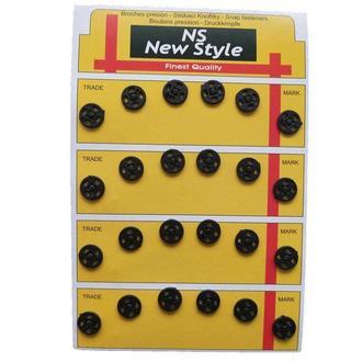D=10мм пришивные кнопки для одежды New Style 24шт пластиковые цвет черный (653-Т-0055)