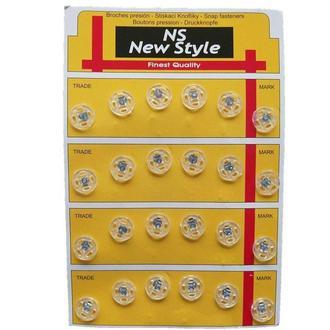 D=11,5мм пришивные кнопки для одежды New Style 24шт пластиковые цвет прозрачный (653-Т-0038)