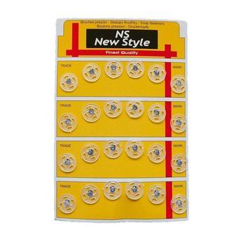 D=13мм пришивные кнопки для одежды New Style 24шт пластиковые цвет прозрачный (653-Т-0071)