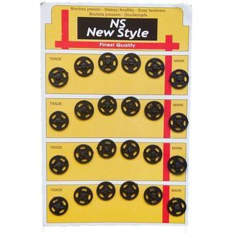 D=13мм пришивные кнопки для одежды New Style 24шт пластиковые цвет черный (653-Т-0074)