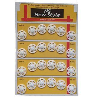 D=18мм пришивные кнопки для одежды New Style 24шт пластиковые цвет белый (653-Т-0072)
