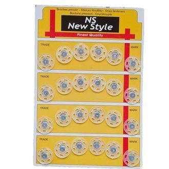 D=18мм пришивные кнопки для одежды New Style 24шт пластиковые цвет прозрачный (653-Т-0049)