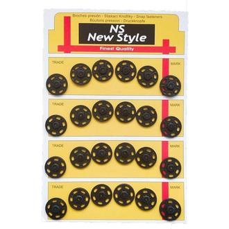 D=18мм пришивные кнопки для одежды New Style 24шт пластиковые цвет черный (653-Т-0069)