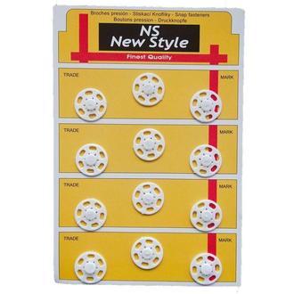 D=21мм пришивные кнопки для одежды New Style 12шт пластиковые цвет белый (653-Т-0068)