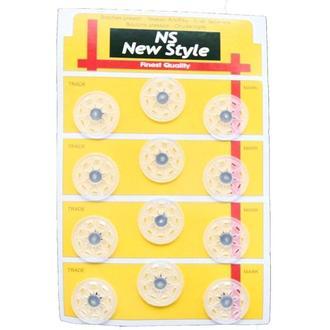 D=25мм пришивные кнопки для одежды New Style 12шт пластиковые цвет прозрачный (653-Т-0698)