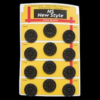 D=25мм пришивные кнопки для одежды New Style 12шт пластиковые цвет черный (653-Т-0033)