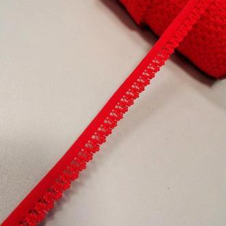 Резинка для пошива нижнего белья (отделочная) 13мм на метраж красная (ПИ8-002)