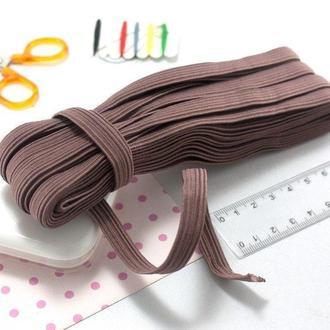 Белорусская резинка трикотажная, бельевая 1 см 10 метров,Молочный шоколад (сп7нг-2889)