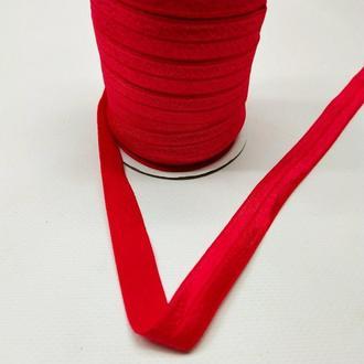 А-026 Трикотажная косая бейка (стрейч. эластичная) 1,5см х 50ярдов (красный) (СИНДТЕКС-0257)