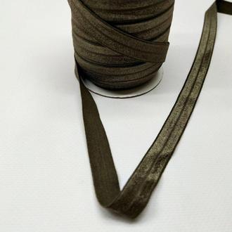 А-188 Трикотажная косая бейка (стрейч. эластичная) 1,5см х 50ярдов (серый) (СИНДТЕКС-0263)