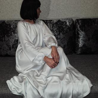 """""""Lana""""-белая сорочка расшитая бисером"""