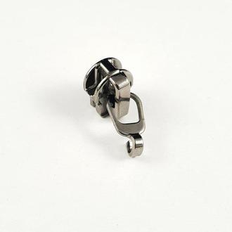 Бегунок Тип 5 для спиральной молнии без пуллера,темный никель 100шт. (СТРОНГ-0688)