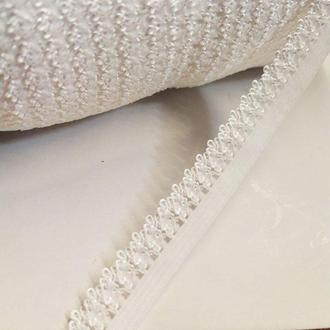 Резинка для пошива нижнего белья (отделочная) 13мм на метраж белая (ПИ8-005)
