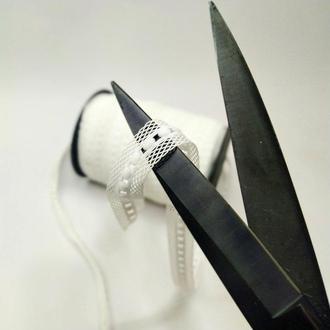 Резинка для пошива нижнего белья (отделочная) 2см на метраж белая (ПИ8-008)