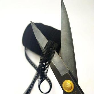 Резинка для пошива нижнего белья (отделочная) 2см на метраж черная (ПИ8-010)