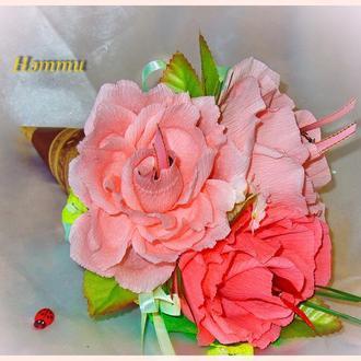 Розы в кулечке))