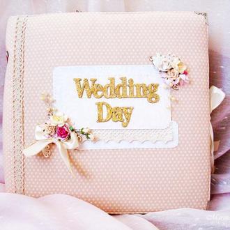Свадебный подарок фотоальбом в стиле шебби шик