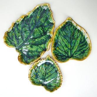 Набор отпечатков листьев керамических