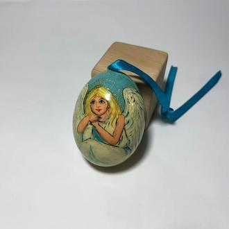 """Яйцо деревянное расписное """"Ангел"""""""