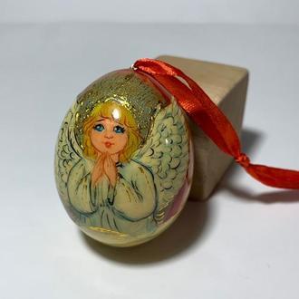 Яйцо деревянное расписное ′Ангел′