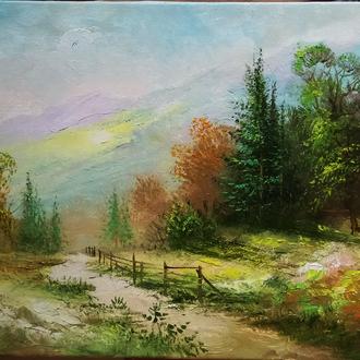 Картина№4  художника Николая Климковича ,написана маслом в наличии45х75  масло
