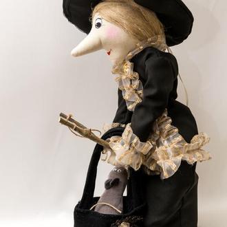 Кукла игрушка старуха Шапокляк 60 см.