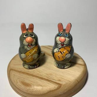 """Брелок деревянный расписной """"Заяц"""""""