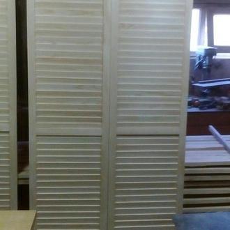 Жалюзийные деревянные дверки по индивидуальным размерам