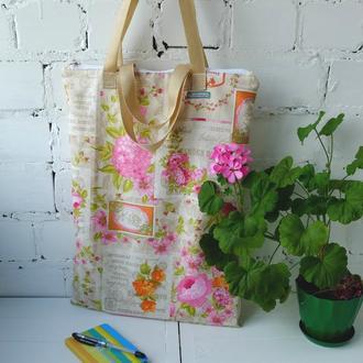 Эко сумка для покупок с молнией, сумка пакет, эко торба, шоппер, авоська