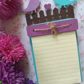 """Планшет (блокнот) для записей """"Влюбленные птички"""""""
