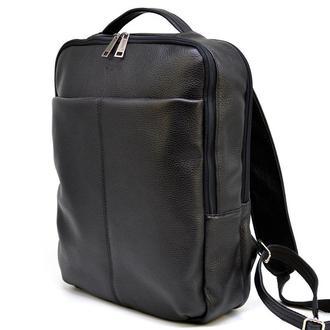 Городской кожаный мужской рюкзак черный TARWA FA-7280-3md