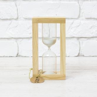 Часы песочные натуральный - белый песок