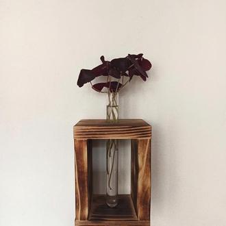 Подставка под цветы со стеклянными пробирками, для цветов.