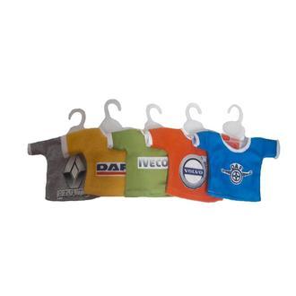 Декоративная мини футболка на присоске  в авто.