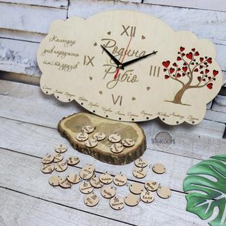 Семейный календарь-часы