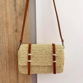 плетеная сумки,сумка из рафии