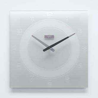 Годинники настінні із скла White Number
