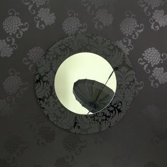 Зеркало интерьерное круглое Patterno d750mm, SKLO+GLAS