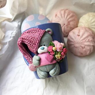 Мишка Тедди с букетом для тебя или любимого человека!