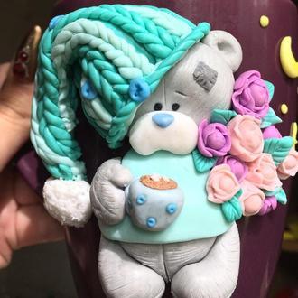 Мишка Тедди с какао и зефирками