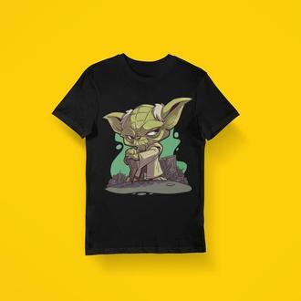 Мужская футболка с мультяшным принтом Йода