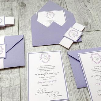 Приглашение на свадьбу «Elegancе»
