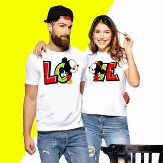 Парные футболки  Push IT с принтом Минни и Микки Маус Love Код ФП000057
