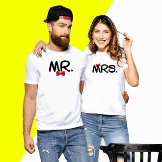 Парные футболки Push IT с надписью MRS и MR Код ФП000145