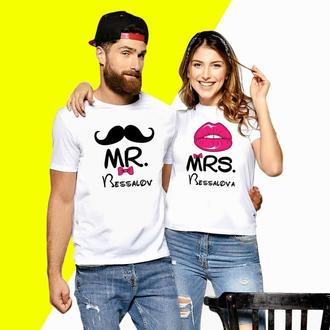 Парные футболки Push IT с надписью Mrs Код ФП000596