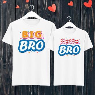 Парные футболки Push IT с принтом  Big bro/Little bro  ФП001146